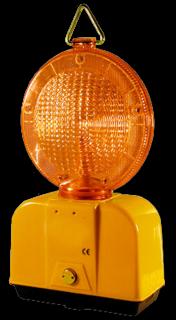 Obstakelverlichting L.E.D. ø180mm oranje lamp, heklamp, obstakellamp
