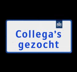 Logobord 2:1 blauw/wit RECHTHOEK zelf tekstbord maken, tekst invoeren, blauw bord