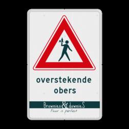 Informatiebord Overstekende obers - inclusief logo/huisstijl brownies en downies