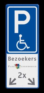 Verkeersbord E06 + logo + tekstregels en pictogram Wit / blauwe rand, (RAL 5017 - blauw), E08N, maximaal, 2 x 24h,   Verboden toegang