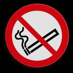 Verkeersbord Verboden te roken Verkeersbord C01_roken verboden soepbord, roken verboden, niet roken, sigaret, sigaar, C1