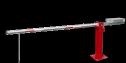 Slagboom (SH1) - RAL3020 - afsluitbaar - met contragewicht draaiboom, slagboom, draaipaal, draaipoort, oversteek, klaarover, school, zebrapad, hefboom, inrit, uitrit