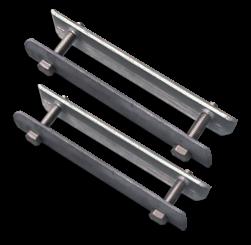Beugelset spijlen- / gaashek staal (set 2 stuks) bevestigingsbeugel, hekbeugel, ophangbeugel, hekbevestiging, beugel, bevestigingsmateriaal