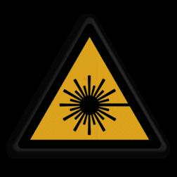 Product Waarschuwing voor stralingsgevaar Veiligheidspictogram - Pas Op! Laserstraal - W004 Straling, laser, laserstraal