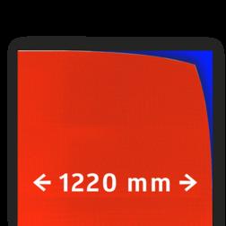 Reflecterende folie V-8008 EVG rood gemetaliseerd 1220mm breed reflex, fluoricerend, reflecterend, retroreflex, retroreflecterend, retro, bordfolie, signface