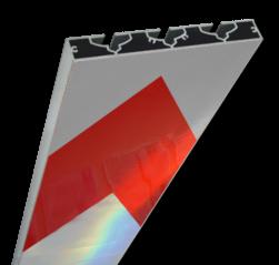 Schrikhekplank 6000mm lang VERZWAARD pijlmotief. RVV BB18-1 hekplank, schrikhek, rood, witte, planken, schrikplank, afzethek, blokken, RVV BB15-2, BB15
