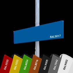 Verwijskoker 15mm  BLANCO - Midden-achterbevestiging blank, blanco, verwijsbord, aanwijsbord, vlaggend, tegen paal, anwb bord, recreatie, vrij invoerbare tekst, eigen tekst
