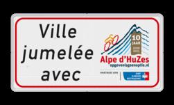 Informatiebord rechthoek 2:1  Alpe d' HuZes - KWF logobord, eigen ontwerp, schoolplein, speciale borden, KWF, Alpe d' Hues