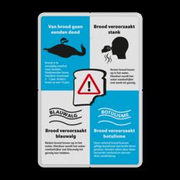Informatiebord - Van brood gaan eenden dood - Model 02 - Stank Voeren, brood, ratten, blauwalg, botulisme, stank, kroos, vissterfte, Ziekte van Weil