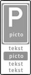 Verkeersteken 2:3 - 2 tekstregels - Pictogram - 3 tekstregels